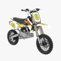 mini moto cross 3d model