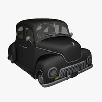 toon classic car 3d model
