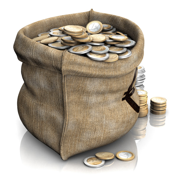 money bag 3d model - Money Bag... by bubble3D