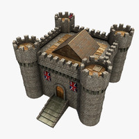 3ds max castle medieval