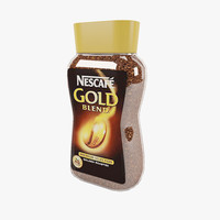 3d coffee nescafe model