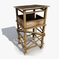 3d model guard tower