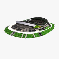 3d stade la stadium model