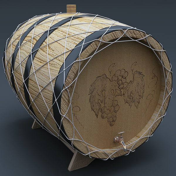 wine barrel - Wine Barrel 3... by 3d_molier