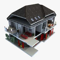 home cuttout 3d model