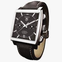 tag heuer monaco black 3d model