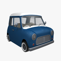 3d model toon car mini cooper