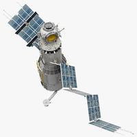 Space Service Module Zvezda Rigged