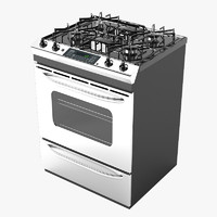 3d model general electric kitchen stove