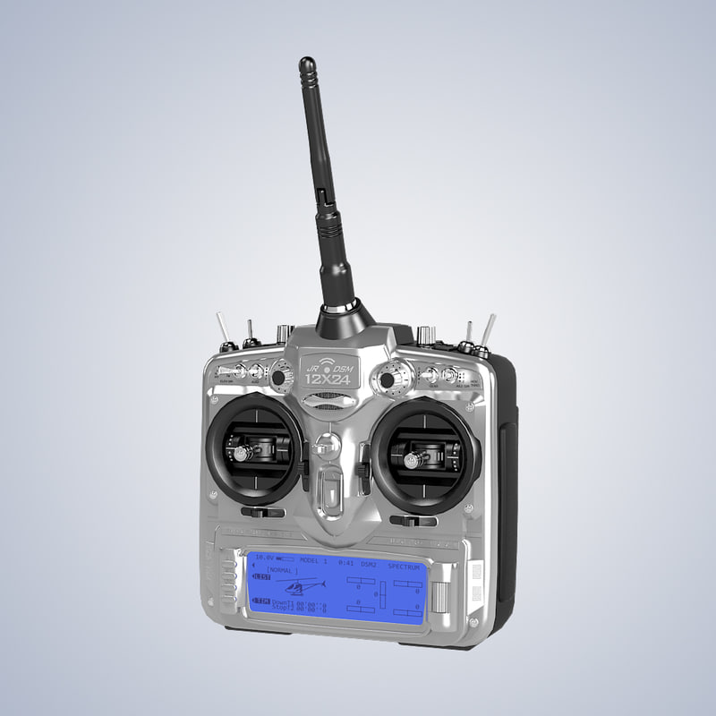 b Transmitter JR-12x DSM computer radio control system RC receiver technology ir plane helicopter control game toy.jpg