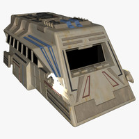 3d model space shuttlecraft transport