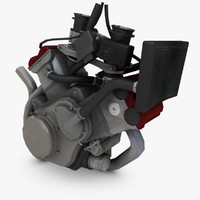 engine dorsoduro supermoto 3d model