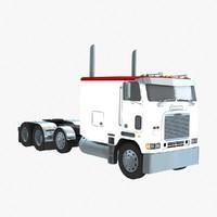 3d cabover truck model