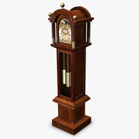 3d antique grandfather clock