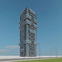 3d model of new skyscraper 05