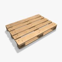 3d model standard euro pallets