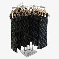 female dresses rack 3d model