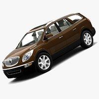 2008 buick enclave 3d model