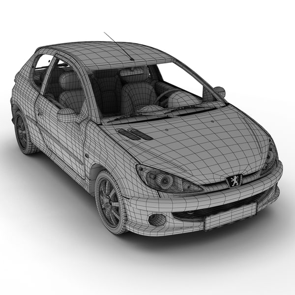 peugeot 206 6 3d model - Peugeot 206... by Next Image