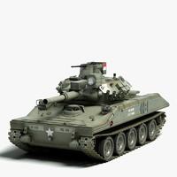 sheridan tank m551 3d model
