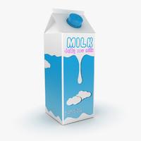 3d model milk box