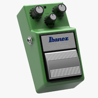 ibanez tube screamer guitar 3d model