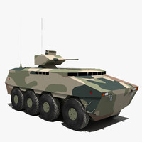 3d pars armoured carrier model