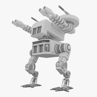 3d battle mech robot model