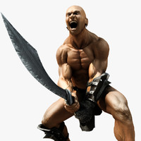 male warrior 3d max