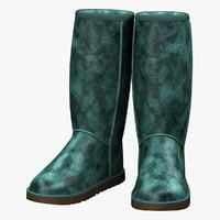 winter boots ugg 3d model