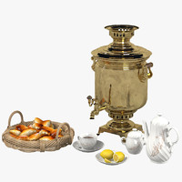 Russian Samovar Tea Set