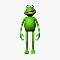 kermit frog 3d max