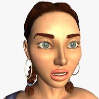 3ds alexa realistic female modeled