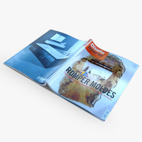 magazines pages 3d model