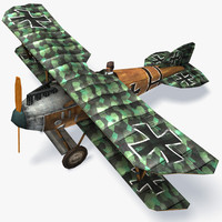 albatros d iii biplane 3d model