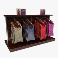 women blouses display rack 3d 3ds