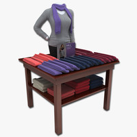 Womens Scarves Table