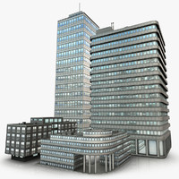 3d modern office buildings