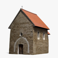 obj gothicized church kopcany