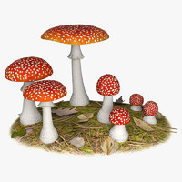 fly agaric 3d model