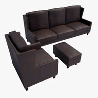 3d model vintage sofa chair