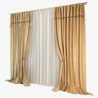 silk curtain 3d model