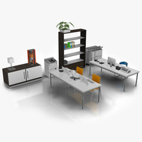 modern office set 04 3d model