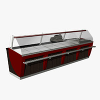 bakery counter 1 3d model
