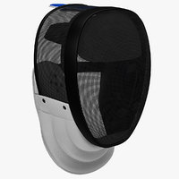 fencing mask 3d 3ds