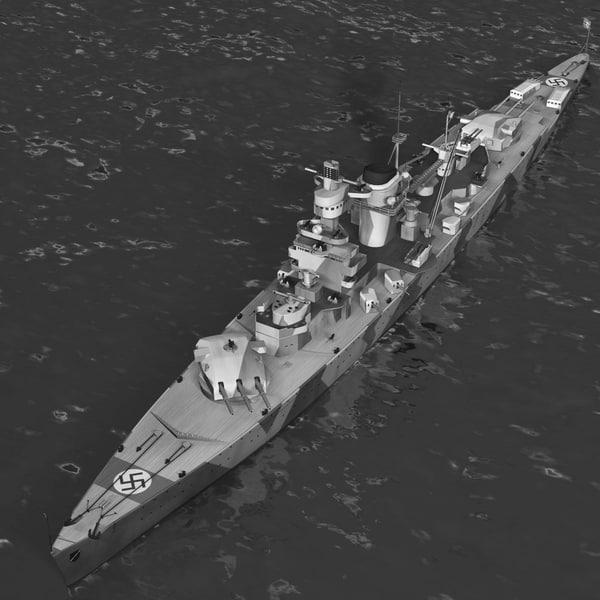 c4d german battleship admiral scheer - German Battleship Admiral Scheer... by CG ARTStudio