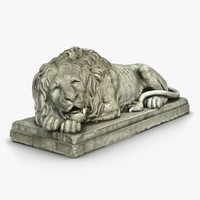3d lion sculpture model