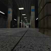 3d subway scene
