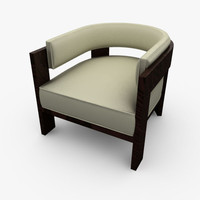3d model curve chair armchair
