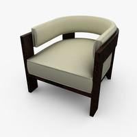 3d model curve chair armchair